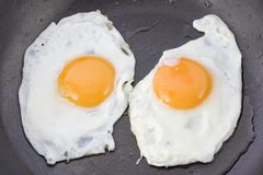 Two fried eggs Stock Photos