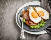 Two fried eggs Royalty Free Stock Photo
