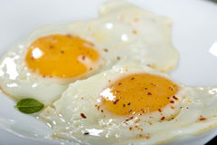Two fried eggs Stock Image