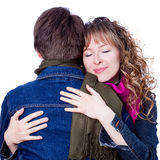 Two friend. Two young attractive girl love each other Royalty Free Stock Photography