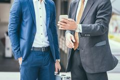 Two friend Business at city. Business team.  Royalty Free Stock Images
