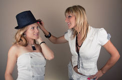 Two friend girls Royalty Free Stock Photos