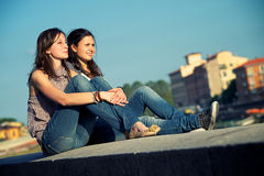 Two Friend Outdor lifestyle Stock Image