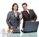 Two friendly business partners Royalty Free Stock Image