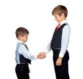 Two friendly businessmen Royalty Free Stock Photos