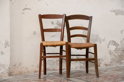 Two friendly chairs Royalty Free Stock Image