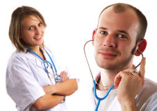 Two friendly doctors Royalty Free Stock Images