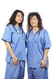 Two friendly female doctors Royalty Free Stock Images