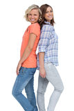 Two friends back to back Stock Photography