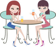 Two friends in cafe Royalty Free Stock Photography
