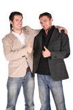 Two friends gives gesture Royalty Free Stock Image