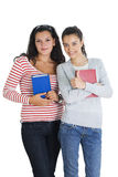 Two friends going to school Royalty Free Stock Images