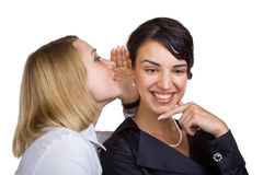 Two friends gossip Stock Photos