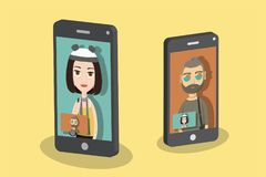 Video call stock illustration