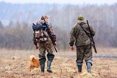 Two friends on the hunt Stock Images