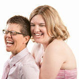 Two Friends Laughing Stock Photography