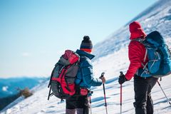 Two friends in the mountains. Royalty Free Stock Photos