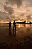 Two Friends. Near the beach when sun were lost their shine Royalty Free Stock Photos
