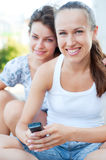 Two friends at outdoor Stock Images