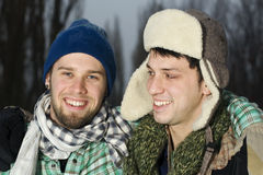 Two friends outside Royalty Free Stock Photography