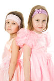 Two friends in a pink dress Royalty Free Stock Photos