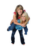 Two friends posing together Stock Photography