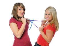 Two friends posing together Stock Photos