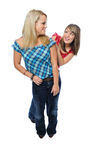 Two friends posing together Royalty Free Stock Photography