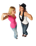 Two friends posing together Stock Images