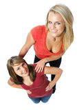 Two friends posing together Royalty Free Stock Images