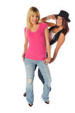 Two friends posing together Royalty Free Stock Photo