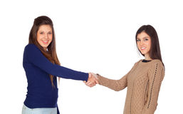Agreement between friends Royalty Free Stock Photos