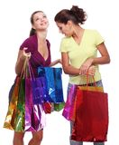 Two friends with shopping. Stock Photos