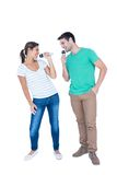 Two friends singing on micro Stock Photography