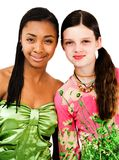 Two friends smiling Royalty Free Stock Photo