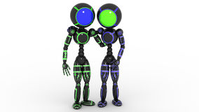 Two friends standing arm in arm #1 Royalty Free Stock Photography