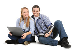 Two friends study Royalty Free Stock Image