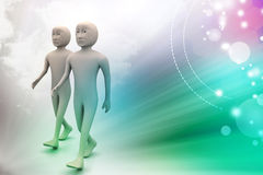 Two friends walk together Stock Photography