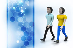 Two friends walk together Stock Images