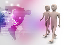 Two friends walk together Royalty Free Stock Photo