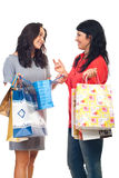 Two friends women having conversation Royalty Free Stock Images