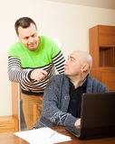 Two friends working Royalty Free Stock Photos