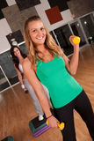 Two friends workout Royalty Free Stock Photography