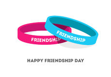 Two Friendship bands with text Stock Images