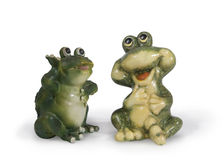Two frogs Stock Image
