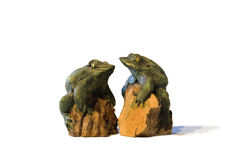 Two frogs sculptures, Thailand Stock Photos