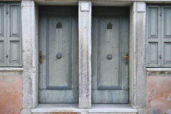 Two front doors Royalty Free Stock Photo