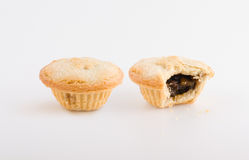 Two Fruit Pies, One Bitten Stock Images