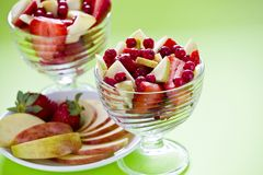 Two Fruit Salad Bowls Stock Photography