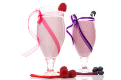 Two fruit shakes. Stock Image